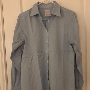 Brooks Brothers Blue Button Down Blouse